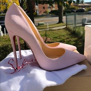 "Womens Christian Louboutins ""So Kate""120 Sued Pink"